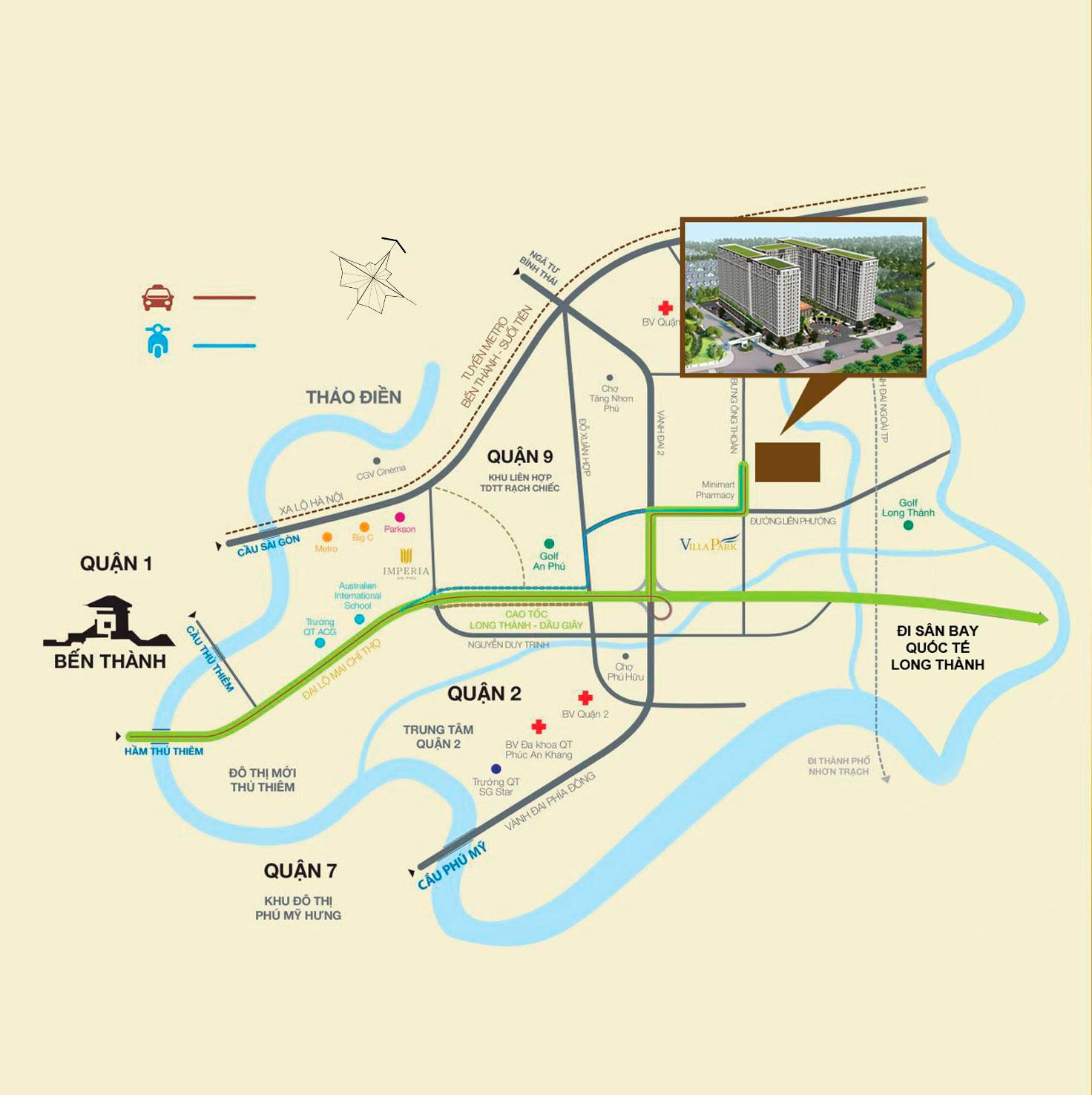 VỊ TRÍ Dự án căn hộ River Park Tower