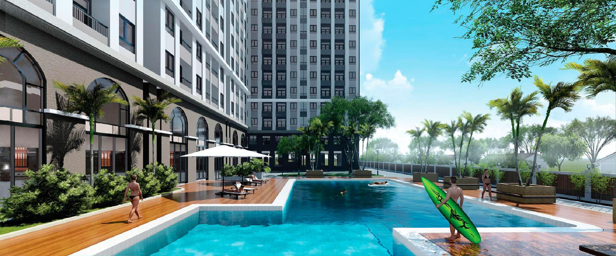 hồ bơi Dự án căn hộ River Park Tower