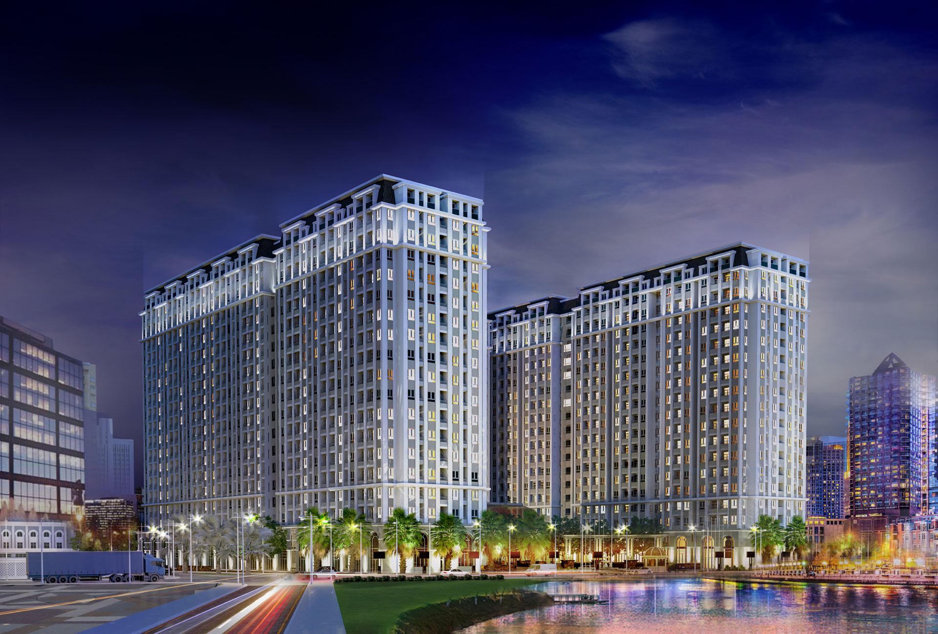 phối cảnh Dự án căn hộ River Park Tower